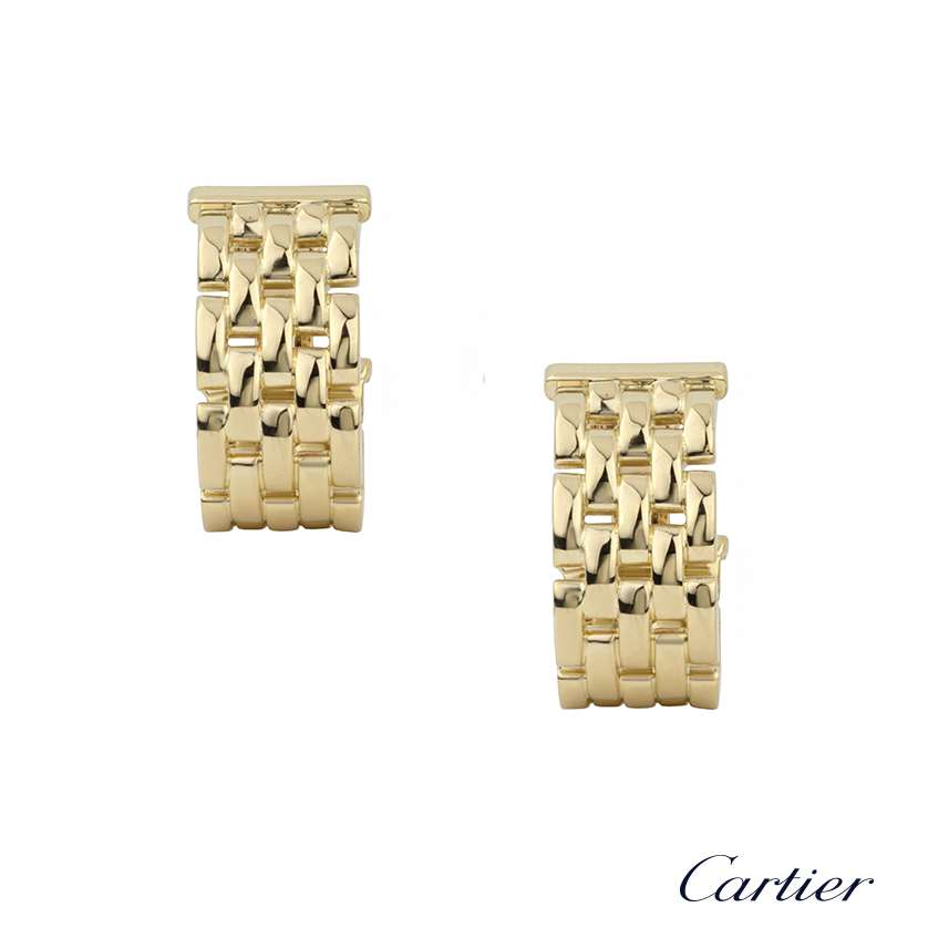 Cartier 18k Yellow Gold Maillon Panthere Earrings